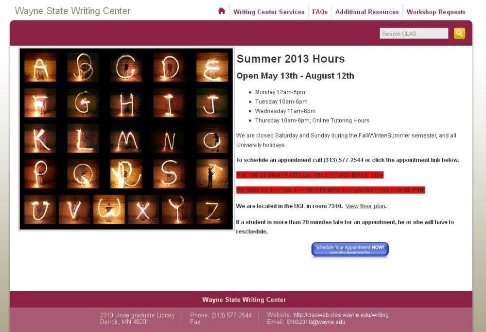 writing center site